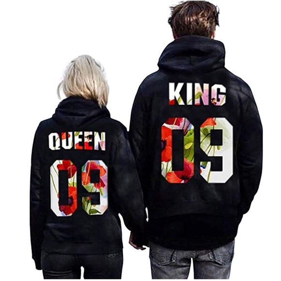 8c115a1cdec King   Queen Matching Couple His Her Hoodie Set